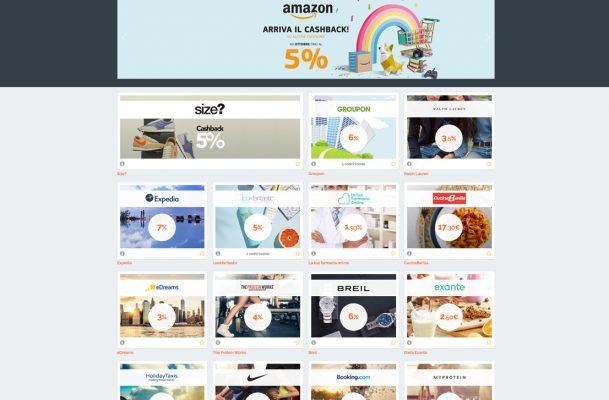 homepage del sito di cashback BuyOn