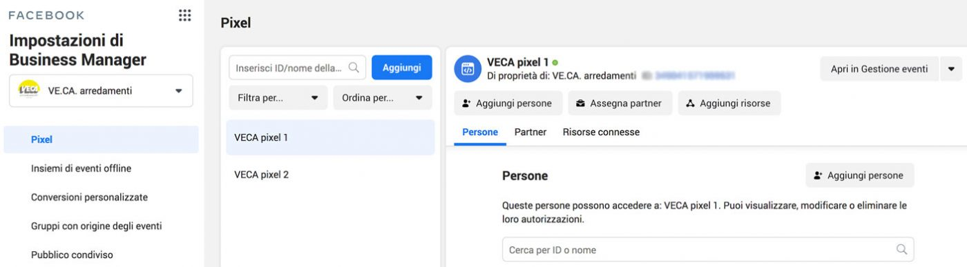 pixel facebook business manager